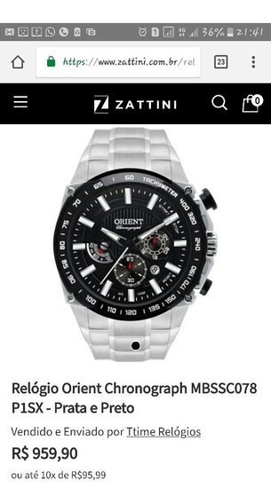 Relógio Orient Cronograph Mbssc078