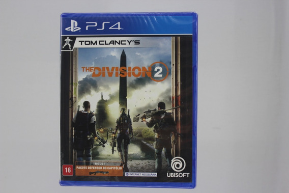 Jogo Tom Clancys The Division 2 Playstation Ps4 Midia Fisica