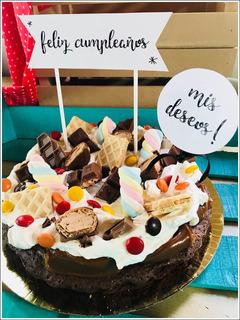 Torta Brownie Candy Golosinas + Tooper - La Plata -con Envío