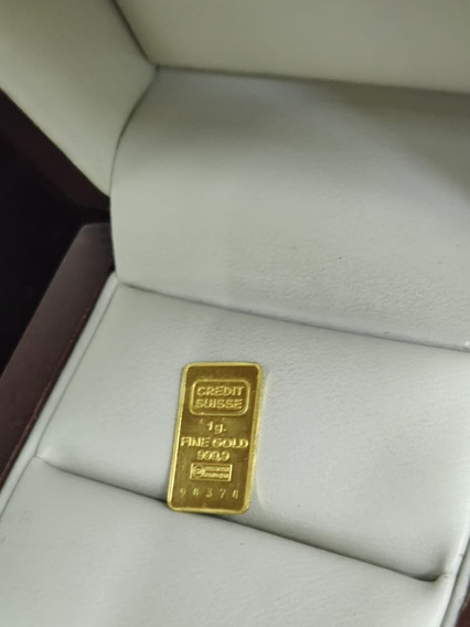 Lingote De Oro Crédito Suizo 1 Gr .