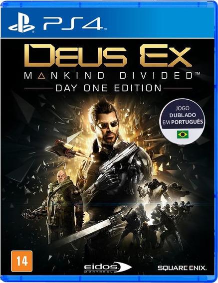 Deus Ex Mankind Divided Ps4 Mídia Física Novo Lacrado