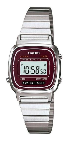 Relógio Casio Vintage Feminino Digital La670wa-4df