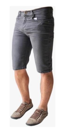 Bermuda Shorts Jeans Sarja Masculina Slim Lycra Premium