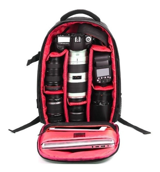 Mochila Grande Profissional Fotográfica Para Canon / Nikon