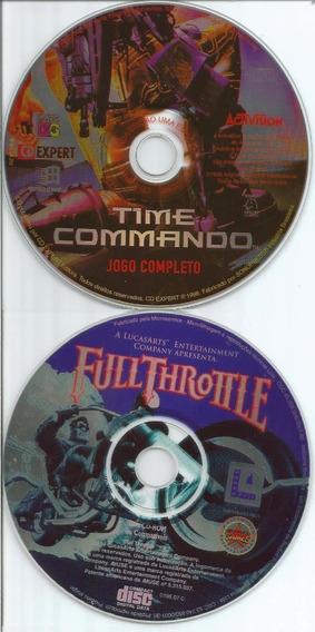 Bk9109 2 Jogos Revista Cd Expert Time Command/full Throttle