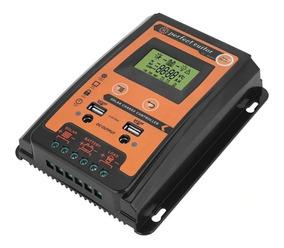 Controlador Solar Pwm 30a Dual Usb Lcd Display 12/24v