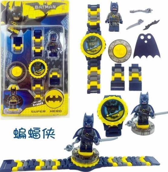 Relógio + Lego Blocos De Montar Batman Infantil P. Entrega