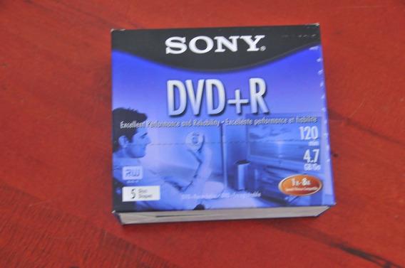 Midia Dvd Sony + R Original - 5 Unidades
