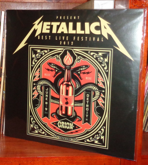 Metallica - Best Live Festival 2012 - Lp Nuevo