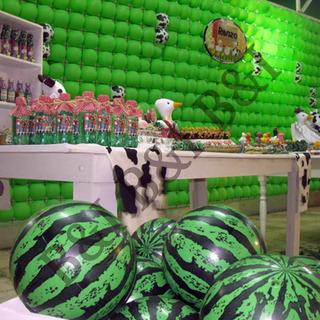 Kit 6 Bola Melancia Inflável Decoração Festa