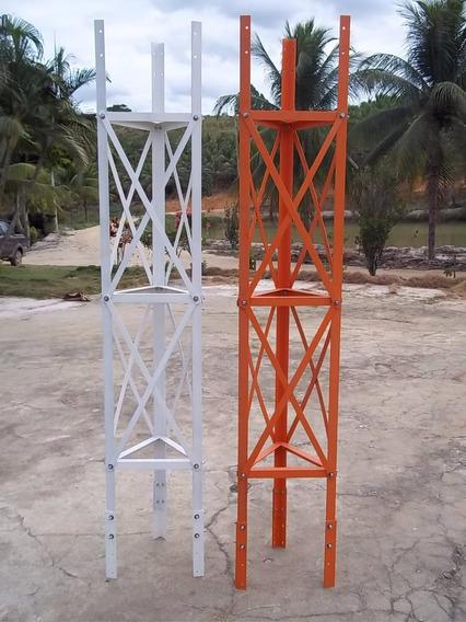 Torre Estaida Parafusada P/ Internet Com Travamento Em X