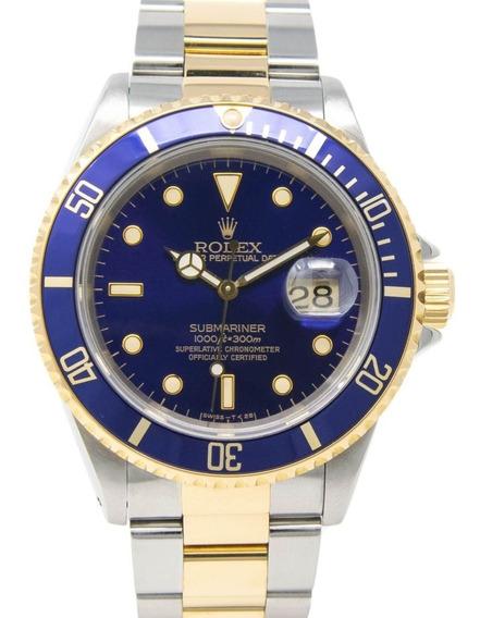 Relógio Rolex Submariner Date Azul 116613lb