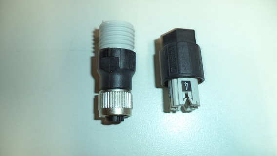 Conector Montável 4 Vias Femea Padrão E Rosca M12