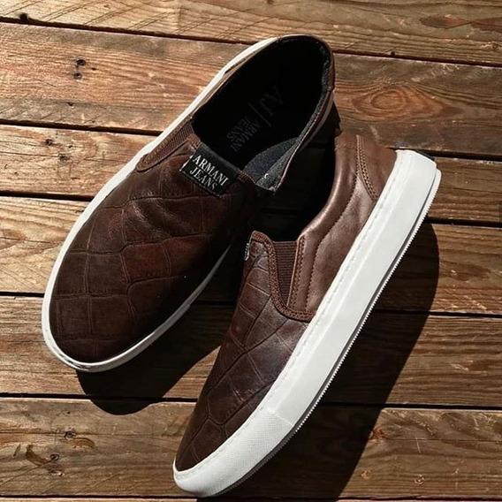 Slip On Armani 1 Frete Gratis Shoes