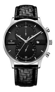 Reloj Hombre Cadisen C9055 Cronógrafo Cuero Gtia 1 Año