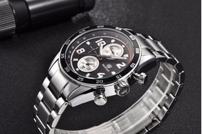 Relógio Aviador Benyar Aço Inox Chronograph By5126m