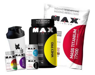 Whey Pro + Creatina + Glutamina + Bcaa + Multimax + Massa