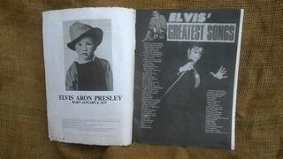 Revista Antiga Do Elvis Presley Com Poster 28x41