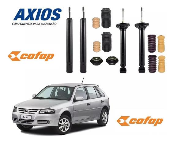 Kit 4 Amortecedor Gol E Parati G2 G3 G4 Cofap +kit Axios