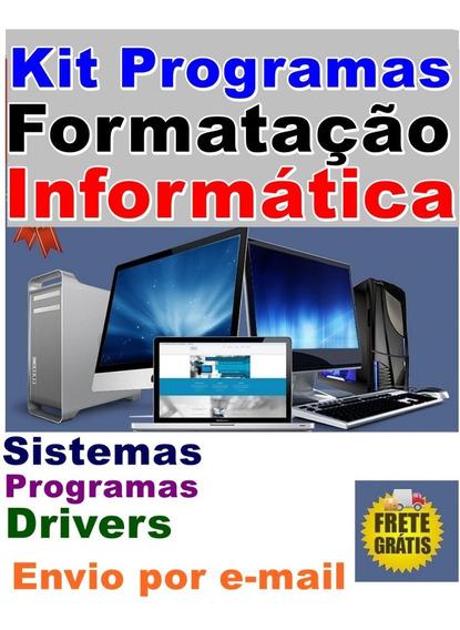 Kit Formatação, Programas Informática Para Computador E Note