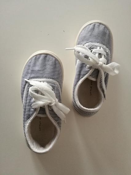 Zapatillas Marca Little Akiabara Con Cordones Para Nena