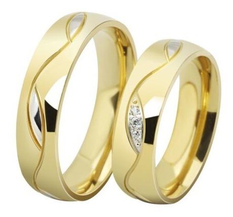 Aliança Tradicional Ouro Tungstênio 6mm Folheada A Ouro