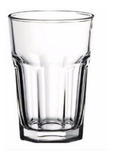 Vaso Facetado X12 400ml Transparente Durax Gaseosa Bar Resto