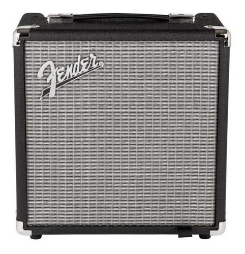 Imagen 1 de 4 de Amplificador Fender Rumble Series 25 Valvular para bajo de 25W color negro/plata 120V