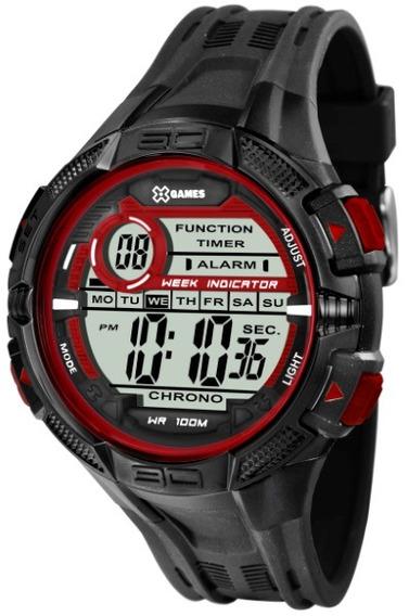 Relógio X- Games Masculino Preto/vermelho 35869