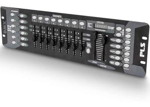 Mesa Controladora Pls Dmx 1216 Iluminação Bivolt 192 Canais