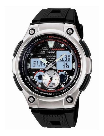 Relógio Masculino Anadigi Casio Aq-190w1avdf - Preto