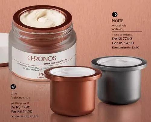 Refil Chronos 45+ Dia E Noite Natura Envio Imediato +brinde