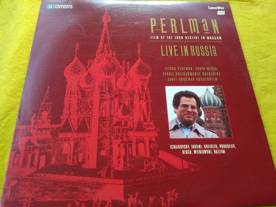 Perlman Live In Russia Tour Recital In Moscow Laserdisc