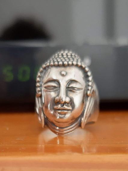 Anel De Prata Buda Masculino