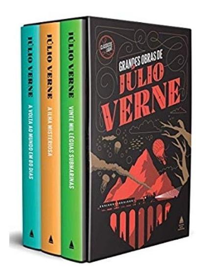 Box Livro Grandes Obras De Júlio Verne - Capa Dura Novos