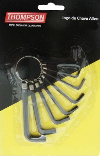 Imagem 1 de 2 de Chave Allen 1,5mm A 6mm Thompson  Kit C/8 Peças