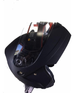 Casco Iron Racing Negro Mate Abatible Y Certificado Dot
