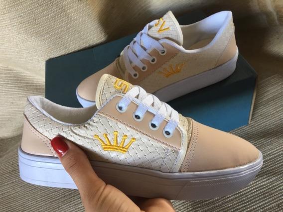 Sapatenis Fé Coroinha Sv Shoes Pronta Entrega +brinde Cod4