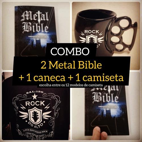 Combo Rockdoalto: 2 Bíblias + 1 Caneca + 1 Camiseta