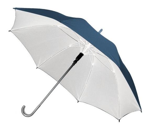 Paraguas Automatico Liso C/detalles Plateados
