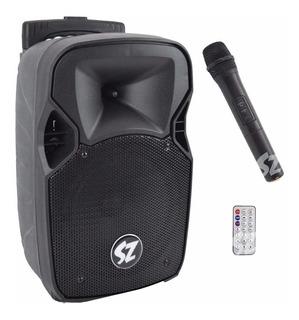 Bafle Bocina Portatil 8 Recargable Bluetooth Radio Usb Aux