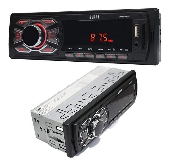 Rádio Automotivo Som Carro Usb Sd Card Mp3 Fm Aux P2