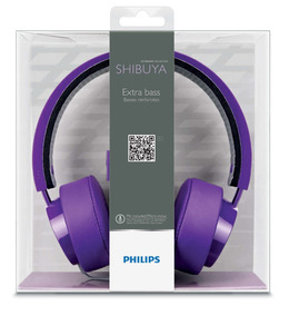 Headset Philips Shibuya Citiscape Roxo - Original