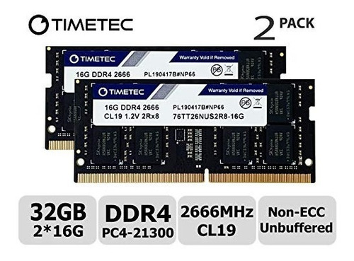 Memoria Ram Timetec Hynix Ic 32gb Kit (2x16gb) Ddr4 2666mhz