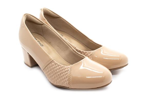 Sapato Modare 7316.108 Bege Verniz