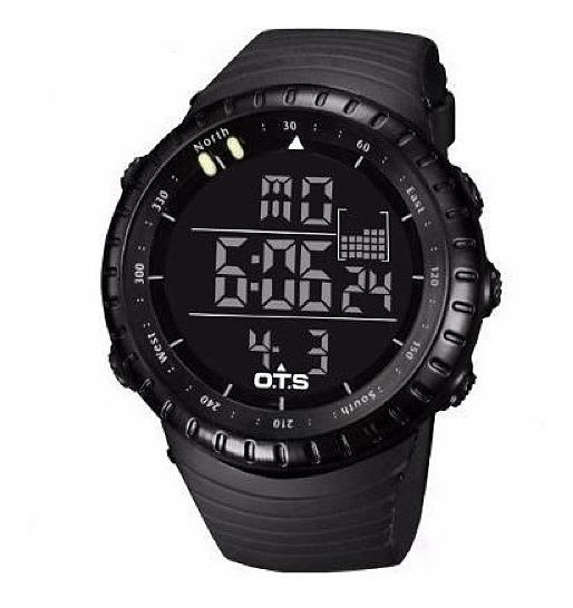 Relógio Digital Esportivo Ots Militar Shock Corrida Brinde