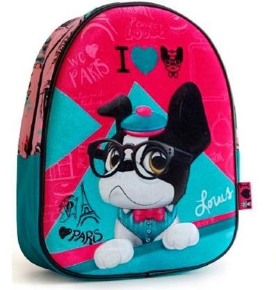 Mochila Escolar Trendy Dogs De Peluche En Relieve 3 D 11