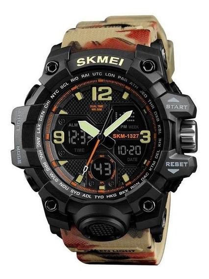 Relógio Skmei Masc/ Esportivo Pulseira Camuflada Original