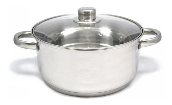 Olla Cacerola Gourmet Plus 20 Cm Acero Inox Triple Fondo