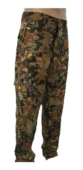 Pantalon Cargo Camuflado Stahl Hunter Algodon Denim Bowie